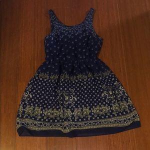 Divided Blue Women Dress
